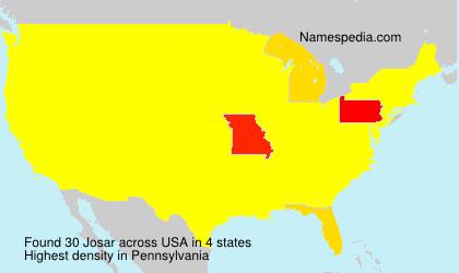 Familiennamen Josar - USA