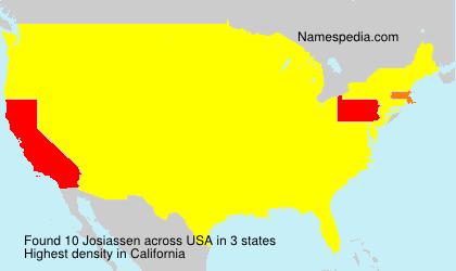 Surname Josiassen in USA