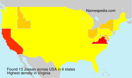 Surname Jossan in USA