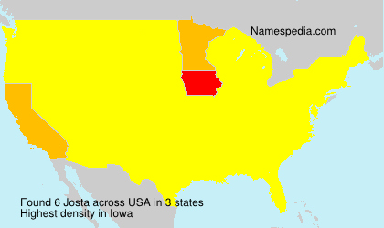 Familiennamen Josta - USA