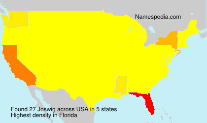 Surname Joswig in USA