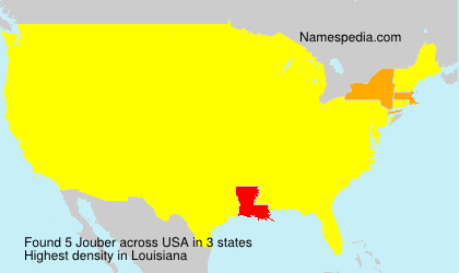 Surname Jouber in USA