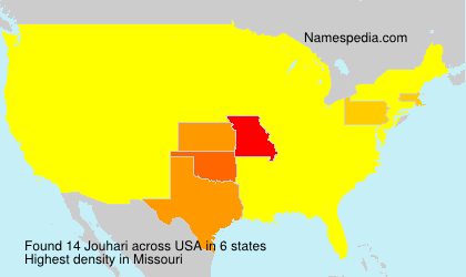 Surname Jouhari in USA