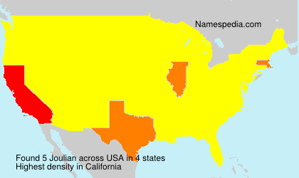 Surname Joulian in USA