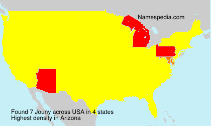 Surname Jouny in USA