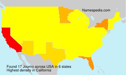 Familiennamen Journo - USA