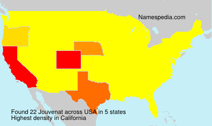 Surname Jouvenat in USA