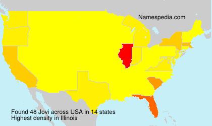 Surname Jovi in USA