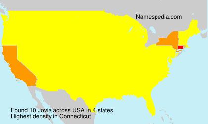 Surname Jovia in USA