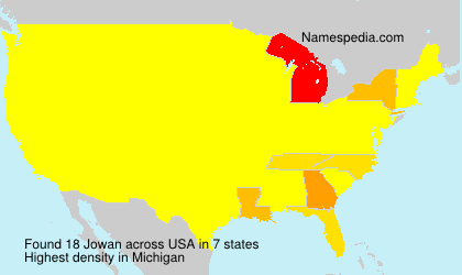 Surname Jowan in USA