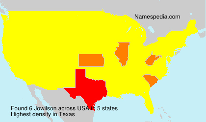 Surname Jowilson in USA
