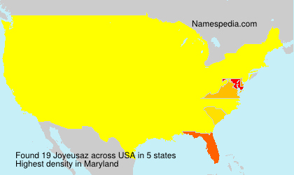 Surname Joyeusaz in USA