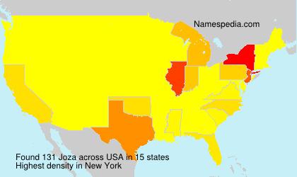 Surname Joza in USA