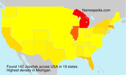 Surname Jozefiak in USA