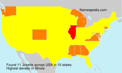 Surname Jozette in USA