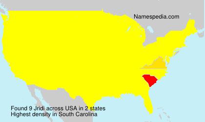 Surname Jridi in USA