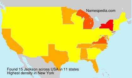 Surname Jsckson in USA