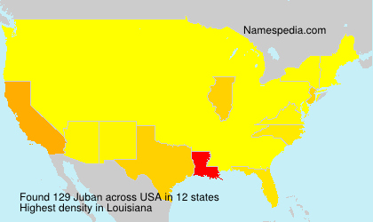 Surname Juban in USA