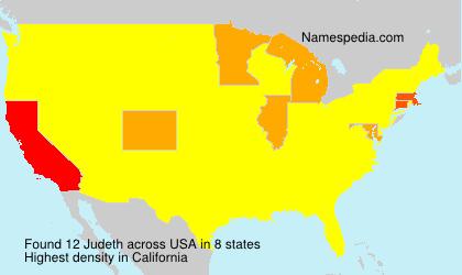 Surname Judeth in USA