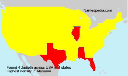 Surname Judieth in USA