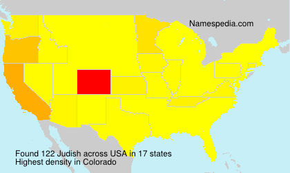 Surname Judish in USA