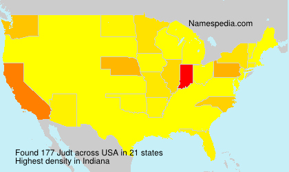 Surname Judt in USA