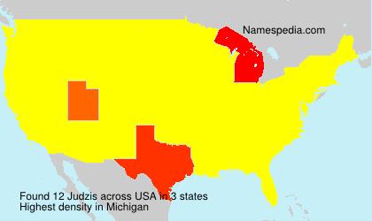 Surname Judzis in USA