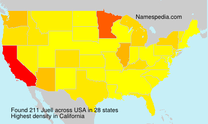 Surname Juell in USA