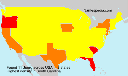 Surname Juerg in USA