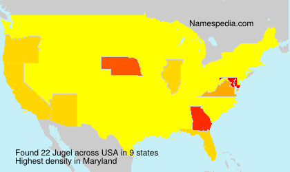 Surname Jugel in USA