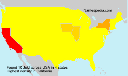 Surname Jukl in USA