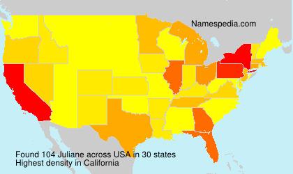 Familiennamen Juliane - USA