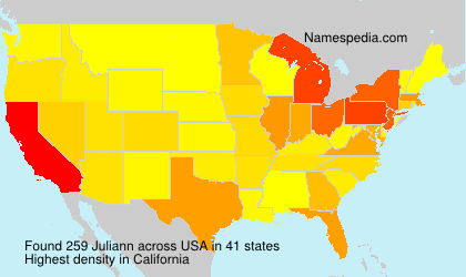 Surname Juliann in USA