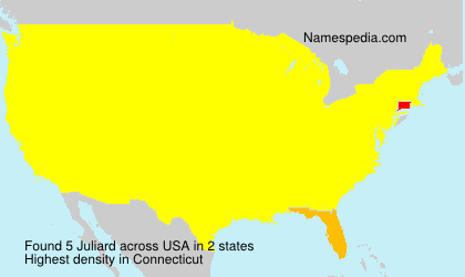 Surname Juliard in USA