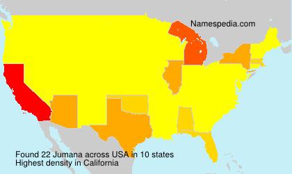 Familiennamen Jumana - USA