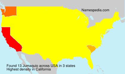Familiennamen Jumaquio - USA
