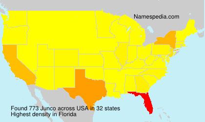 Surname Junco in USA