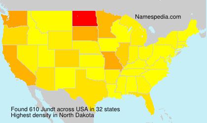 Familiennamen Jundt - USA