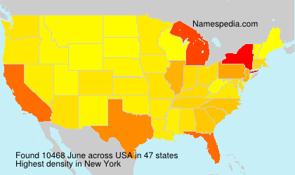 Surname June in USA