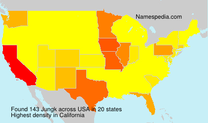 Surname Jungk in USA