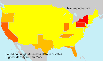 Surname Jungkurth in USA