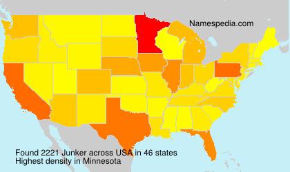 Surname Junker in USA