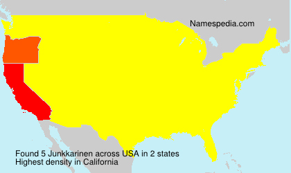 Surname Junkkarinen in USA