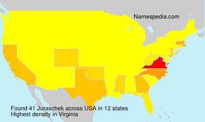 Familiennamen Juraschek - USA