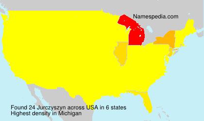 Surname Jurczyszyn in USA