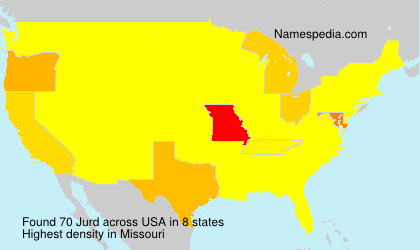 Surname Jurd in USA