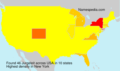 Surname Jurgeleit in USA
