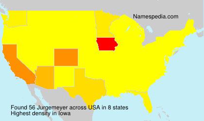 Surname Jurgemeyer in USA