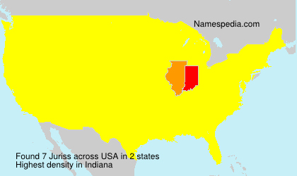 Surname Juriss in USA