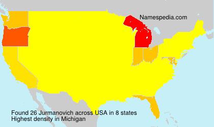Surname Jurmanovich in USA